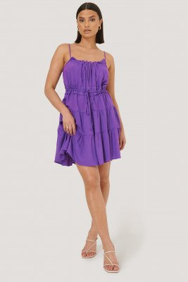 Trendyol Trendyol Mini-Jurk Met Ruches - Purple