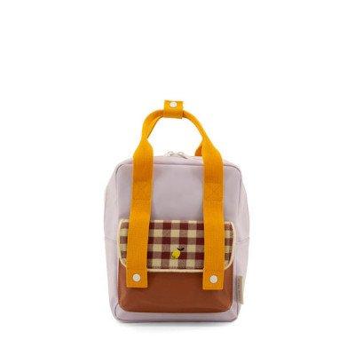 Sticky Lemon Sticky Lemon Small Backpack Gingham Chocolate Sundae + Daisy Yellow + Mauve Lilac