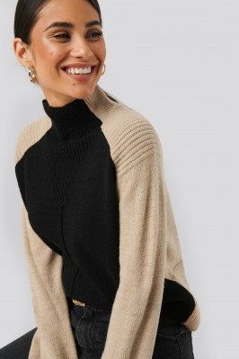 NA-KD Trend NA-KD Trend Wool Blend Colour Block Sweater - Multicolor