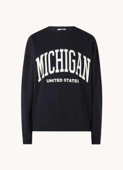 America Today America Today Sue oversized sweater met print