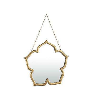 Firawonen.nl Ptmd brinley goud houten spiegel in bloemvorm s