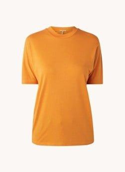 Scotch en Soda Scotch & Soda T-shirt in lyocellblend met ronde hals