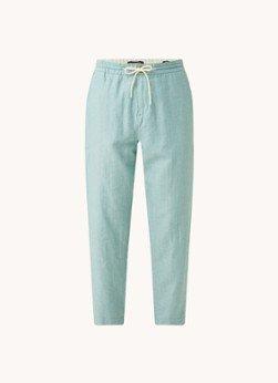 Scotch en Soda Scotch & Soda Tapered fit cropped pantalon in linnenblend