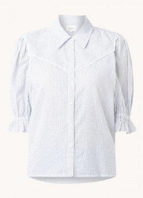 BAenSH ba&sh Soy blouse met ruches en streepprint