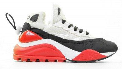 F-WD F-WD FW33032B Wit/Zwart/Rood Damessneakers