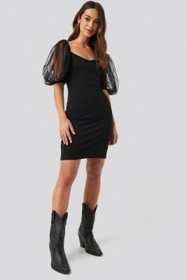 Mango MANGO Bulloves Dress - Black