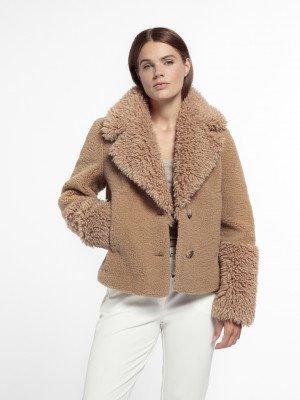 Beaumont Beaumont Lama mix coat - Caribou
