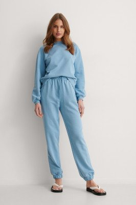 NA-KD Basic NA-KD Basic Organisch Losvallende Sweatpants - Blue