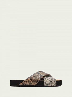 Scotch en Soda Scotch & Soda Yolin sandalen met slangeneffect