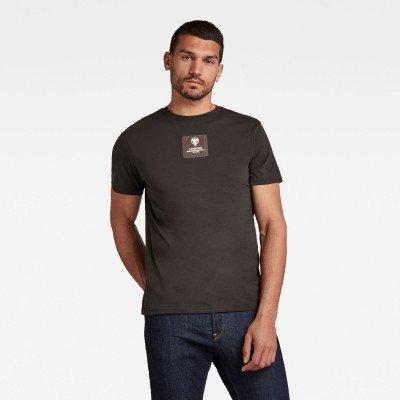 G-Star RAW Center Logo Badge T-Shirt - Grijs - Heren