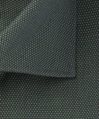 Michaelis Michaelis heren birdseye overhemd groen strijkvrij