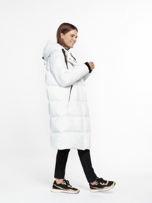 Beaumont Beaumont Recycle puffer parka - White