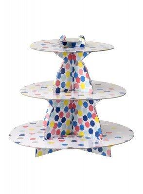 HEMA HEMA Kartonnen Etagère - 30 Cm - Confetti (multicolor)