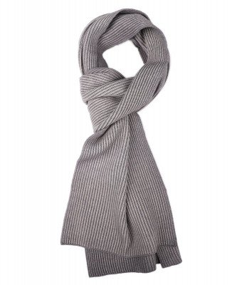 Profuomo Profuomo heren grijze knitted sjaal