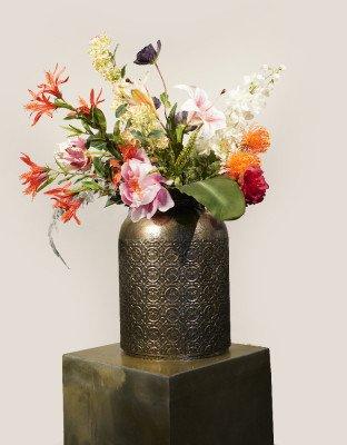 Firawonen.nl Kunstboeket Flower Feast incl. vaas