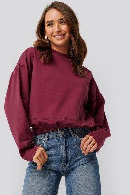 NA-KD NA-KD Contour Seam Deatil Sweater - Red