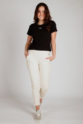 enCo &Co Woman Shirt / Top Zwart Logo T-Shirt