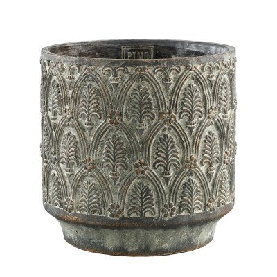 Firawonen.nl Ptmd jennis groen cement pot antiek patroon rond