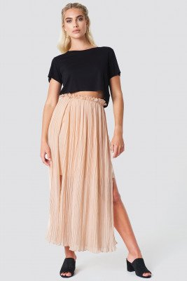 Rut&Circle Pleated Frill Skirt - Pink