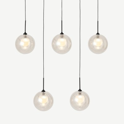 MADE.COM Masako glazen eetkamerlamp