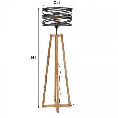 LifestyleFurn Vloerlamp 'Manuel' 1-lamps, Ø41cm