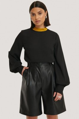 Trendyol Collar Detailed Blouse - Black