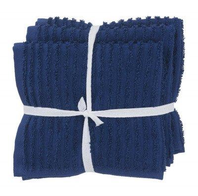 HEMA HEMA Vaatdoekjes - Katoen - Blauw - 3 Stuks (blauw)