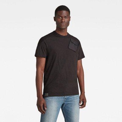 G-Star RAW Military 3D Woven Pocket T-Shirt - Zwart - Heren