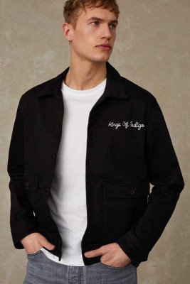 Kings of indigo Kings of Indigo - GARETH jacket Male - Black