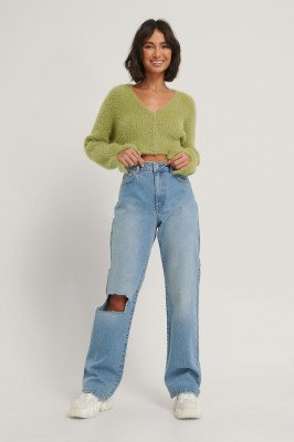 Hoss x NA-KD Hoss x NA-KD Rechte Jeans - Blue