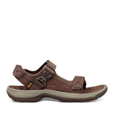 Teva Teva Tanway Leather Sandalen, Bruin voor Heren, Maat 39.5