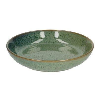 DilleenKamille Bord diep reactieve glazuur, steengoed, groen,Ø 22 cm