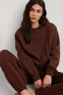NA-KD Reborn NA-KD Reborn Organisch Sweater - Brown
