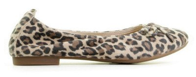 Si Si Haniya Beige Leopard Dames Ballerina's