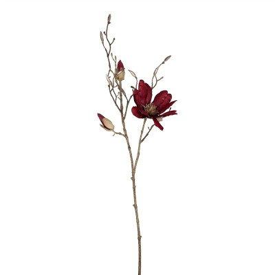 Firawonen.nl PTMD Magnolia Flower burgundy spray