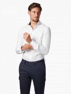 Cavallaro Napoli Cavallaro Napoli Heren Overhemd - Contento Overhemd - Wit