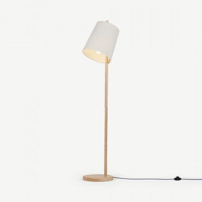 MADE.COM Sveinn staande lamp van hout, wit en hout