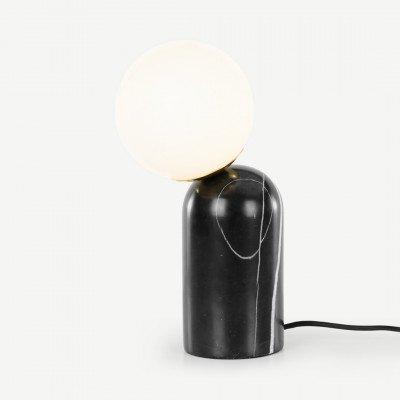 Vetro tafellamp, zwart marmer en messing