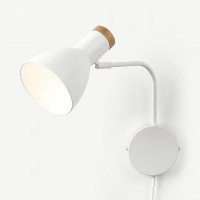 MADE.COM Cohen wandlamp, wit
