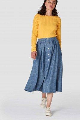 Kings of indigo Kings of Indigo - BENTEN skirt Women - Light Blue