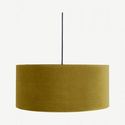 MADE.COM Carmella hanglampenkap, antiek goud fluweel