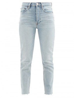 Matchesfashion Re/Done - 90s High-rise Slim-leg Cropped Jeans - Womens - Denim