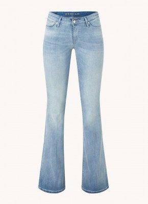 Denham Denham Farrah low waist flared fit jeans met medium wassing