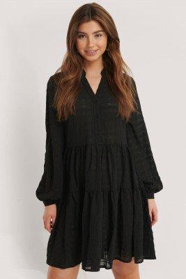 NA-KD Boho NA-KD Boho Structure A-Line Dress - Black