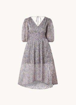 Maje Maje Rilota midi jurk met bloemenprint en rugdecolleté