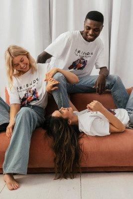 Warner Bros. Warner Bros. Organisch Unisex T-shirt Met FRIENDS Print - White