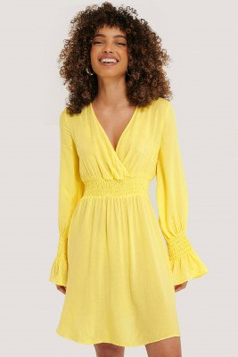Trendyol Trendyol Elastic Waist LS Dress - Yellow