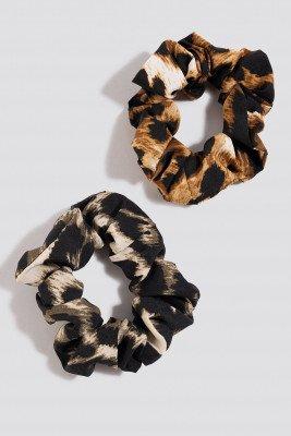 NA-KD Accessories NA-KD Accessories 2-pack Leopard Scrunchies - Multicolor