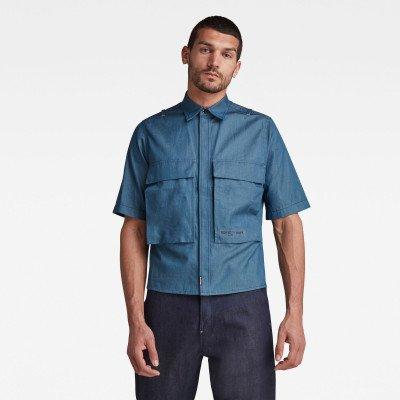 G-Star RAW GSRR Cropped Shirt - Donkerblauw - Heren