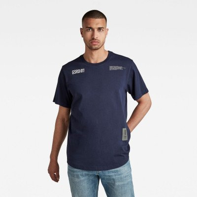 G-Star RAW C&S Back Multi Graphic Loose T-Shirt - Donkerblauw - Heren